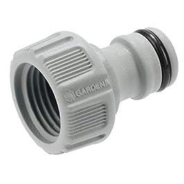 GARDENA Hahnverbinder 21 mm (G 1/2″): Anschluss für Wasserhähne mit Gewinde, wasserdichte Schlauchverbindung, einfache Handhabung (18200-50)