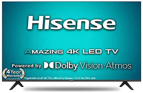 Hisense 108 cm (43 inches) 4K Ultra HD Smart Certified Android LED TV 43A71F (Black) (2020 Model) |...