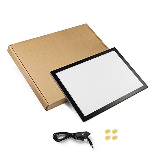 A3 Light Box Drawing Pad, Ultra Thin Light Copy Board, Portable Tracing Light Board, Adjustable Brightness Led Light Box for Artists Drawing Sketching Tattoo Animation Stenciling(A3)