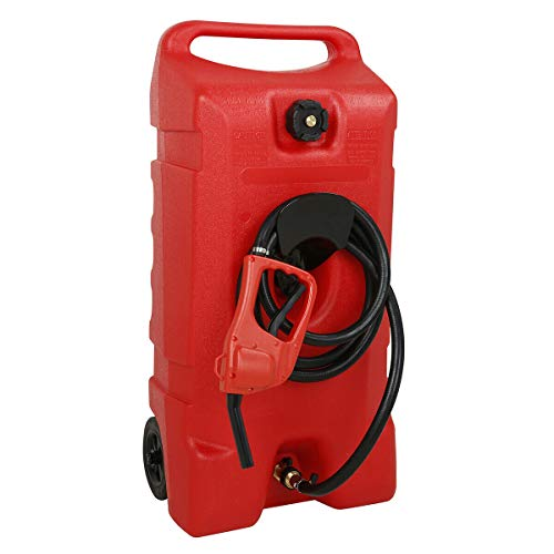 Tnegchang 14 Gallon Portable Gas Can, Gasoline Standard Container Pontoon Boat Fuel Tanks