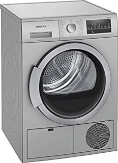 Siemens condenser tumble dryer 9 kg Silver color, WT46G40SGC, 40 minute quick dry programme, wool/shoe_basket_Siemens, drumLight for an ideal illumination of the drum interior.