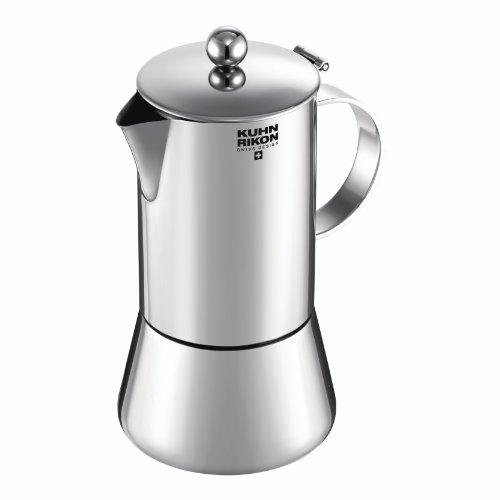 KUHN RIKON 38095 Cafetera Italiana Espresso Juliette Acero Inoxidable 0,5L 10 Tazas inducción, 0.5 litros