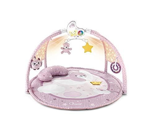 Chicco Enjoy Colours, Gimnasio para Bebés 3en1 Rosa, Juguete Multifunción Electrónico con Alfombra de Juegos, Estrella Proyector, Luz Nocturna Extraíble y Música Relajante – Juguetes Bebé 0+ Meses