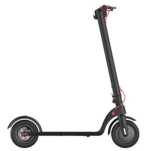 Patinete eléctrico 3 velocidades Vel 25 km/h Autonomía 25 km LED Amortiguador trasero, batería de litio freno de disco, scooter