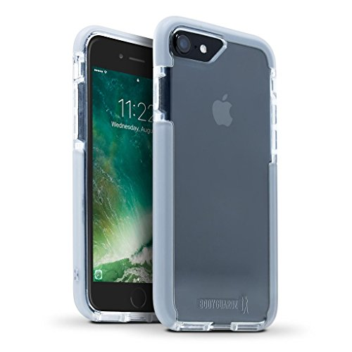 BodyGuardz - Ace Pro Case for Apple iPhone SE 2nd Gen, 7 and 8 (Not Plus), Extreme Impact and Scratch Protection (Clear/Grey)