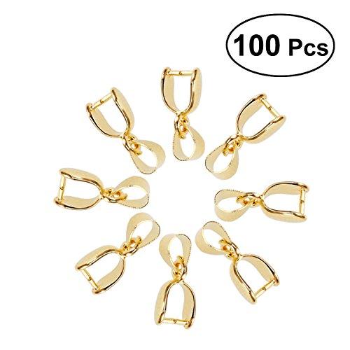 Ultnice 100 pcs Métal Pincez Fermoir Pendentif Perle connecteur Fermoir pour accessoire de bijoux 20 mm