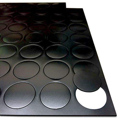The Magnet Shop adhésif AIMANTS pour Loisirs CRÉATIFS - magnétique Points Cercles Disque Rond - 25mm diamètre [0.85mm épais ] 70 Paquet - Feu Artisanat activités