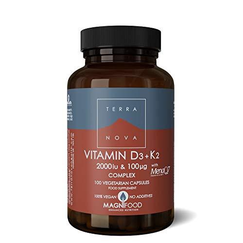 Terranova Vitamin D3 + K2 Complex - 2000iu & 100mcg - 100 Vegicaps