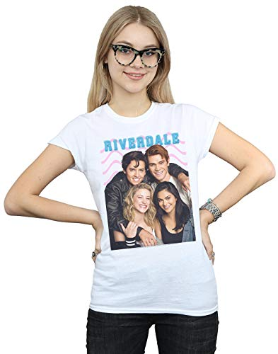 Absolute Cult Riverdale Femme Group Photo T-Shirt Blanc Small