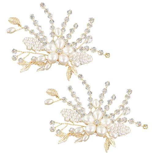 Holibanna 1 par de Hebilla de Zapato de Diamantes de Imitación Clips...