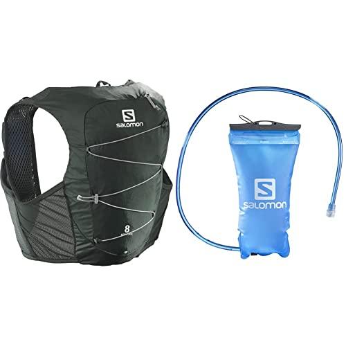 SALOMON Active Skin 8 Set + Soft Reservoir Tanque Flexible 1.5L Trail Running Senderismo