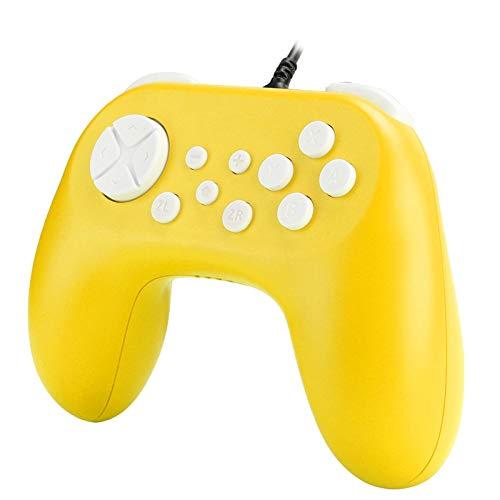 ゲームパッドグリップTNS-19075ゲームコンソールハンドグリップ4接続チャネルシングルハンドコントローラー、モーター付き、スイッチのエンターテインメント用(yellow)
