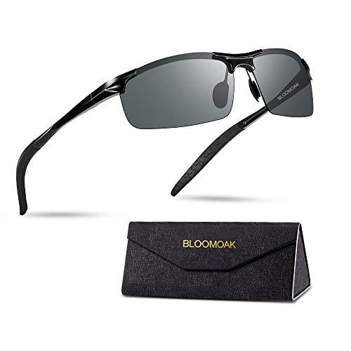 Bloomoak gepolariseerde sport zonnebril, Al-Mg metalen frame UV-bescherming Ultra licht, pak voor mannen vrouwen reizen fietsen hardlopen vissen golfbril