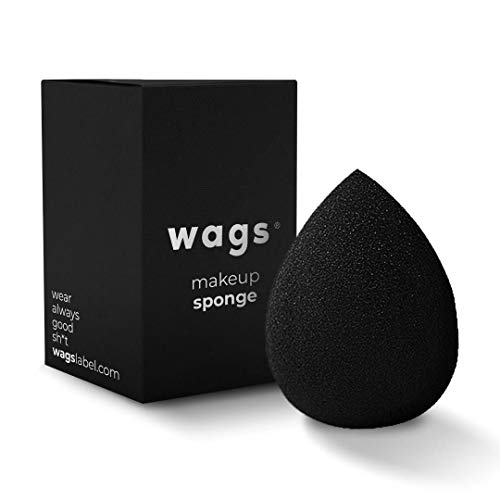WAGS Beauty Sponge Makeup Blender Ultra Soft, Latex Free and Vegan, For Liquid, Powder or Cream Application (One Piece)