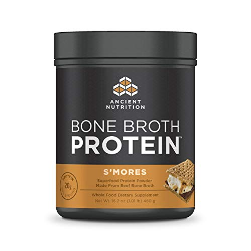 Ancient Nutrition Bone Broth Protein Powder, Seasonal S'Mores Flavor, 20 Servings…