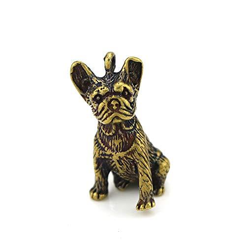 YGAKX Llavero de latón Colgante Vintage Refinado Cachorro Cobre Puro Accesorios para Llaves de Coche Llavero Popular