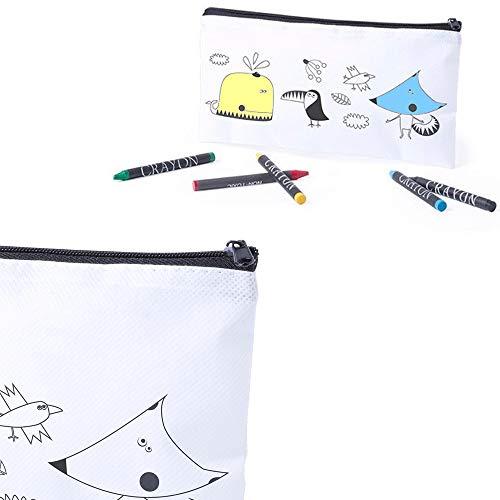 Lote 18 Estuches para Colorear Dibujos Infantiles con 5 Ceras de Colores. Regalos Infantiles para cumpleaños. Detalles Infantiles para Eventos.