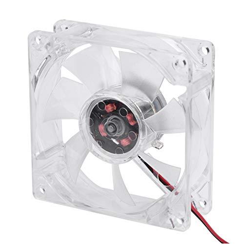 80mm Luz LED 12V 4Pin Silencio Estuche para PC Ventilador de Enfriamiento Enfriador para Computadora 11 DB-A Silencioso Ultra Silencioso Alta Velocidad 2500 RPM ABS de Larga Duración Ligero(Azul)