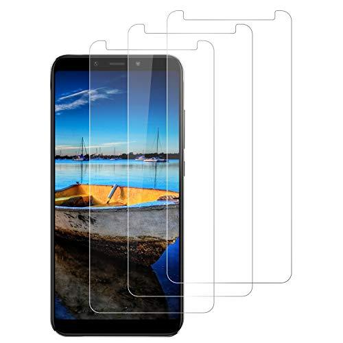 DOSNTO Protector de Pantalla para Xiaomi Mi A2, 3-Unidades Cristal Vidrio Templado Premium Xiaomi Mi A2 [Alta Definicion][Sin Burbujas] [Kit Fácil de Instalar] [Dureza 9H] [Anti-Arañazos]-Transparent