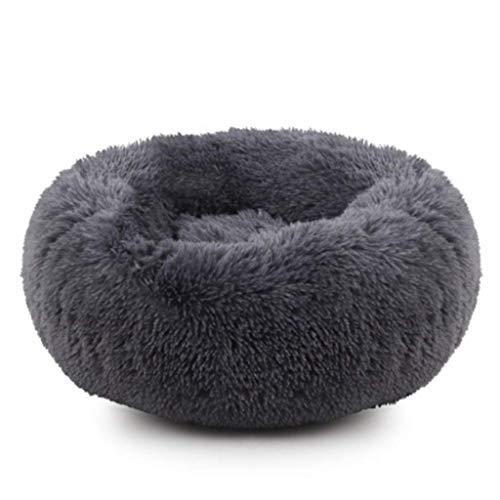8bayfa hond grot bed kleine en middelgrote hond matten hondenhok warm zacht huisdier slaapzak grootte 40x15cm, 60X20CM, DARK GRIJS