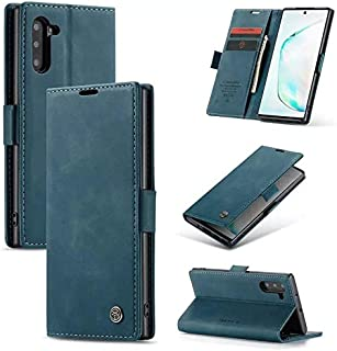 Flip Leather Case For Samsung galaxy note 10 plus - Turquoise