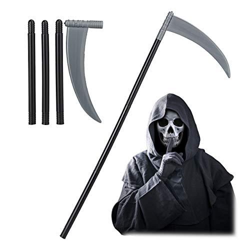 Relaxdays Guadaa, Complemento para Disfraz de Muerte, Accesorio de Halloween, Nios & Adultos, 43-103 cm, 1 Ud, Negro, Adultos Unisex