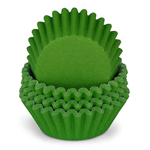 Miss Bakery's House® Mini-Muffinförmchen Standard - Ø 32 mm x 20 mm - Gruen - 200 Stück - Papier-Backförmchen - Cupcakes, Muffins und Pralinen