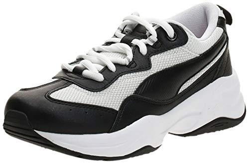 PUMA Damen Cilia Sneaker, Black-White-G Violet-Silver, 39 EU