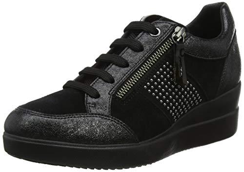 Geox Damen D Stardust D Sneaker, Schwarz (Black C9999), 39 EU