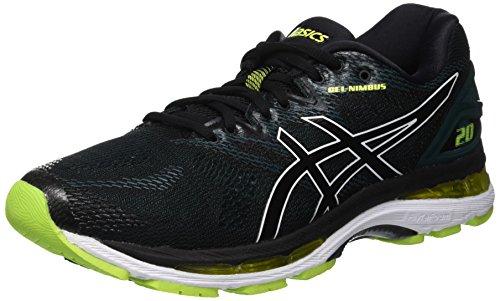 Asics Gel-Nimbus 20, Zapatillas de Running para Hombre, Negro (Black/Neon Lime 004), 41.5 EU