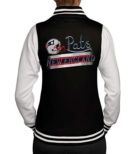 shirtdepartment - Damen College Jacke - Pats - New England schwarz-rot L