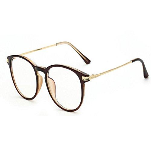 Hzjundasi Lumière bleue Filtre Ordinateur Des lunettes Anti-rayonnement UV Lentille claire Vintage Rond Goggle Hommes/Femmes