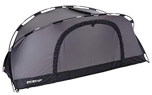 Berger Moskitozelt zu Feldbett Insektenschutz Trekkingzelt Überzelt Zelt Netz Camping Trekking grau