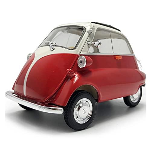 aleación presión fundición coche modelo Kit Para Isetta1: 18 escala Vintage 1955 modelo de coche de juguete de aleación de metal fundido a presión vehículo de juguete modelo de coche juguetes para niñ