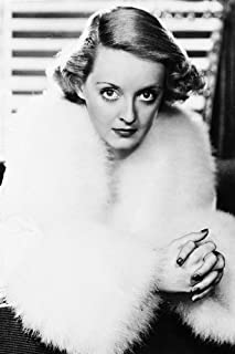 Bette Davis Classic in Fur Coat 24x36 Poster