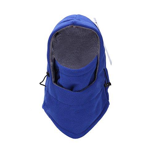Thenice Masque Cagoule Unisexe Chapeau Multifonction Hiver Balaclava (Bleu)