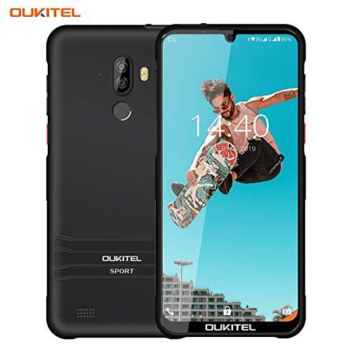 OUKITEL Robustes Smartphone, Y1000 6,088 Zoll IP68 Wasserdicht, 3600mAh Android 9.0 Smartphone Ohne Vertrag, 2 GB + 32 GB 19.5: 9 MT6580P Gesichts-ID Fingerabdruck Handy (Schwarz)