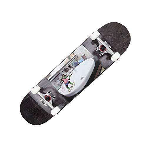 HXGL-Skateboards Professioneel Skateboard Complete Skateboard Korte Board Beginner Longboard 31.5 Inch Double Rocker - Vaatwasser Skateboard