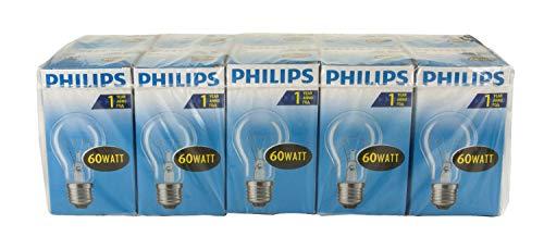 Philips E27 60W 1000h Glühlampen, 10er Pack