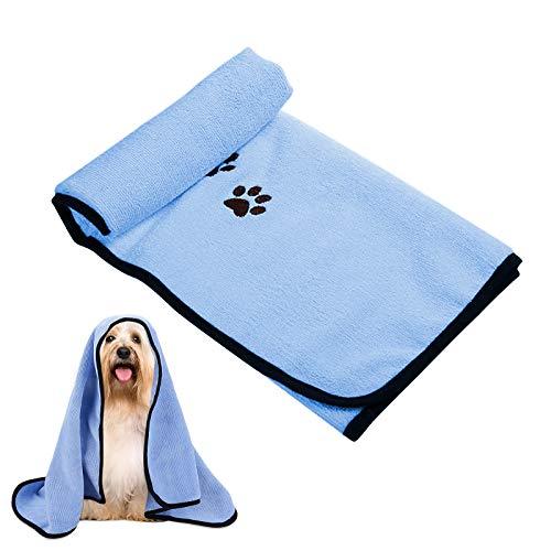 LxwSin Toalla para Perros, Toallas para Mascotas, Toallas de Microfibra de Secado Rápido para Mascotas, Toalla de Baño para Perros, Toalla Suave Súper Absorbente para Perros y Gatos, 90x50cm
