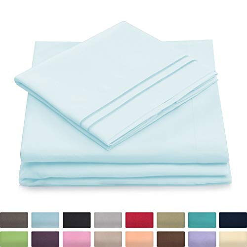 Twin XL Size Bed Sheets - Baby Blue Twin Extra Long Bedding Set - Deep Pocket - Ultra Soft Luxury Hotel Sheets- Hypoallergenic - Cool & Breathable - Wrinkle, Stain, Fade Resistant - 3 Piece