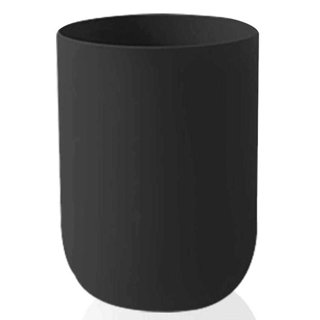 ゴミ箱プラスチックゴミ箱、北欧スタイルとバレルのデザイン、キッチンのリビングルームのバスルーム ヒューヒーロー (Color : Black)