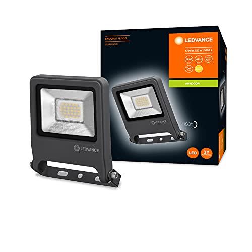 LEDVANCE LED Fluter, Leuchte für Außenanwendungen, Warmweiß, 153 mm x 133 mm x 34 mm, ENDURA FLOOD
