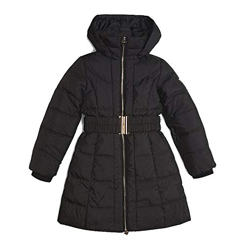 Guess Mädchen Daunen Mantel mit Kapuze J94L09 WANL0 schwarz (12 Jahre (152))