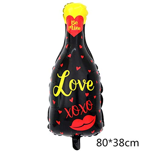 FFDGHB Party Folie Luftballons Champagner Bier Whisky Flasche Luftballons Weingläser Helium Polyester Film Luftballons Karneval Adult Party