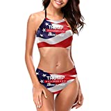 Donald Trump for President 2020 Keep America First Women Attractive Swimwear Sexy Bathing Suit Black