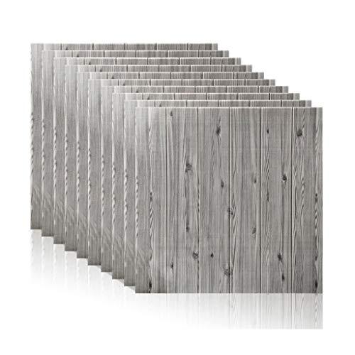 Gxxvip-Lockers Wallpaper-Stick und Peel, 3D-Self-Adhesive Wandpaneele Faux Foam Bricks Tapete for TV-Wand Sofa Hintergrund Wand-Dekor (Color : Gray, Size : 30 Piece)