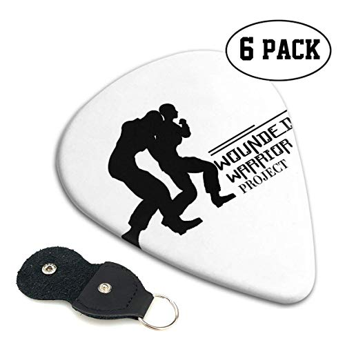 Wounded Warrior Guitar Picks 6er Pack Universal ABS Guitar Picks für Akustik- und E-Gitarre-D5