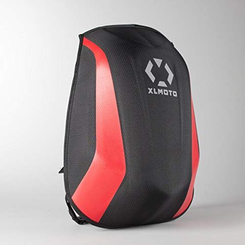 Course XLmoto Slipstream Zaino Moto Impermeabile, 24L, Rosso Stripe
