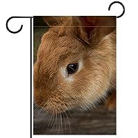 ガーデンフラッグ縦型両面 28x40in 庭の屋外装飾.動物のバニーペットのウサギ